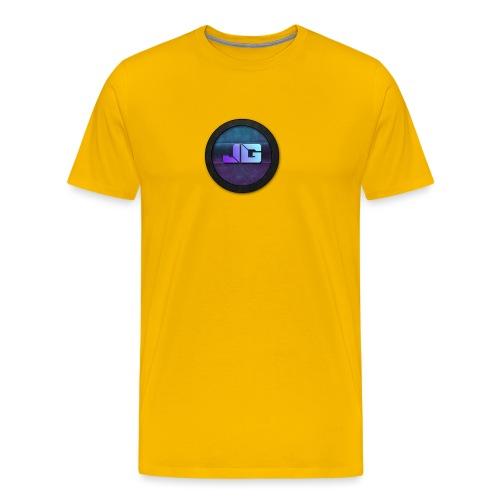 Pet met Logo - Mannen Premium T-shirt