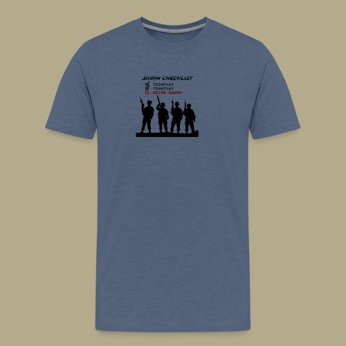 Skirm Checklist - Mannen Premium T-shirt