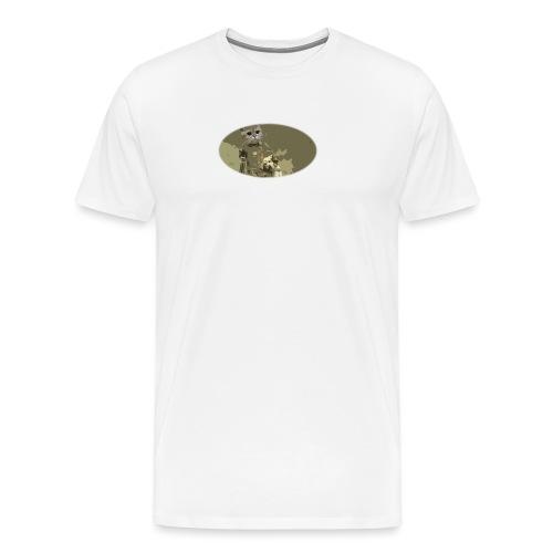 Cat hunting dogs - Premium T-skjorte for menn