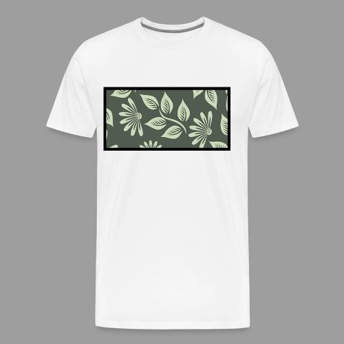 Flowers´n Black - Männer Premium T-Shirt