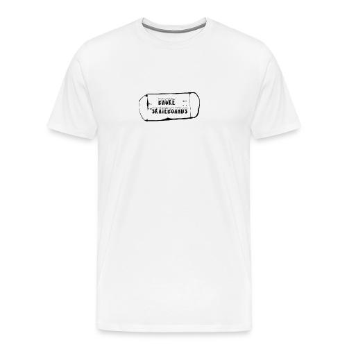 broke skateboards - Premium T-skjorte for menn
