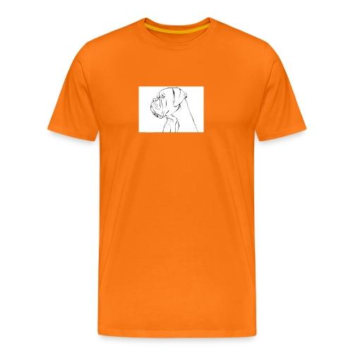 ritratto di un cane - Maglietta Premium da uomo