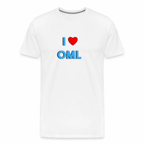 I LOVE OML - Mannen Premium T-shirt