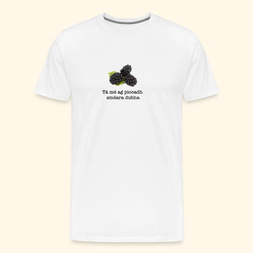 Picking blackberries - Men's Premium T-Shirt