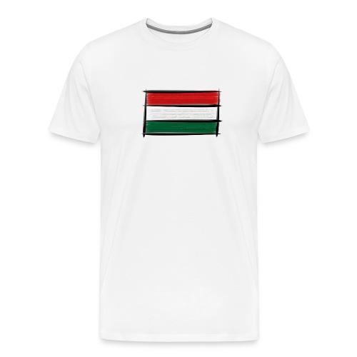 Art Flagge Ungarn - Männer Premium T-Shirt