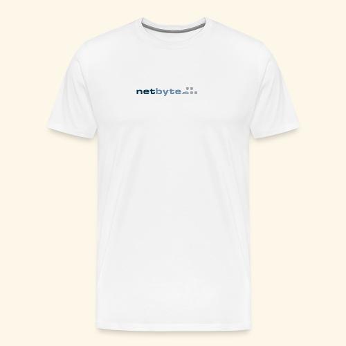 netbyte.dk logo - Herre premium T-shirt
