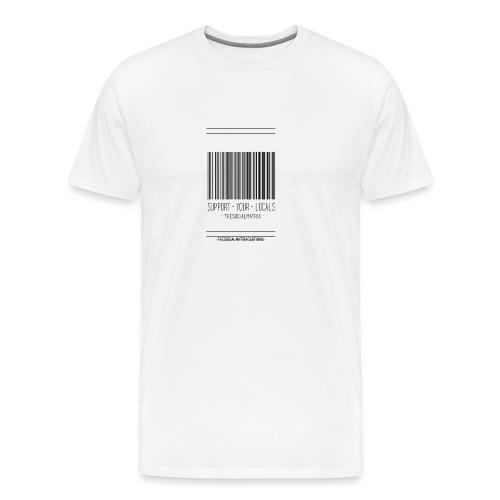 STEUN JE LOKAAL - Mannen Premium T-shirt