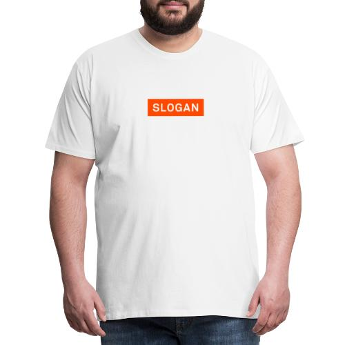 Slogan Logo - Miesten premium t-paita