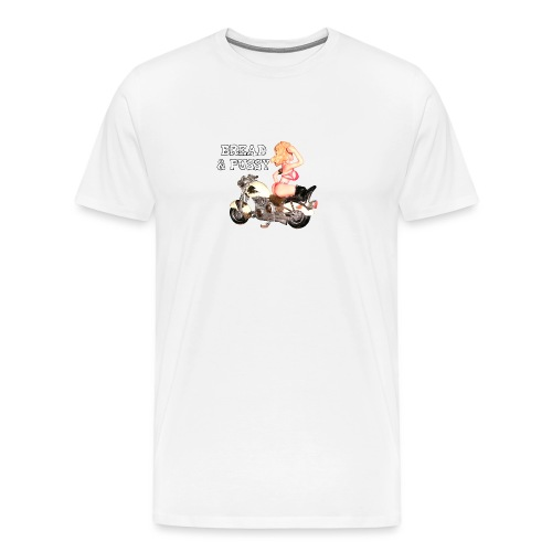 LOGO BREAD AND PUSSY - Maglietta Premium da uomo