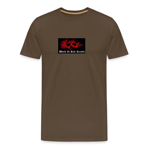 World Is Sick Skull Huppari - Miesten premium t-paita