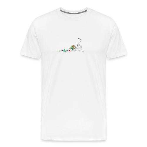 frukt og grønt handleveske - Premium T-skjorte for menn