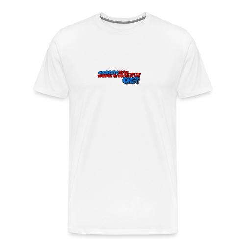 Forklæde med tekst - Herre premium T-shirt