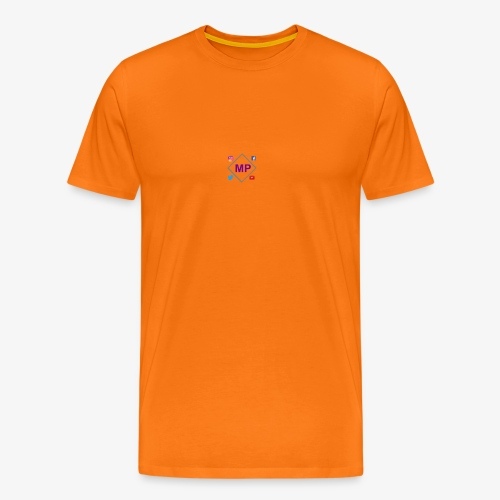 MP logo with social media icons - Men's Premium T-Shirt