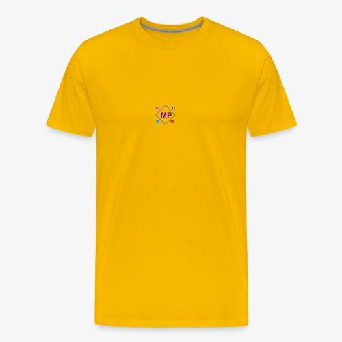 MP logo with social media icons - Men's Premium T-Shirt