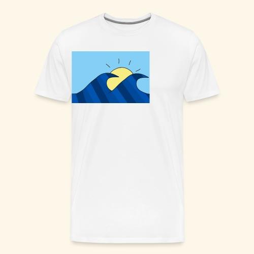 Espoir double wave - Men's Premium T-Shirt