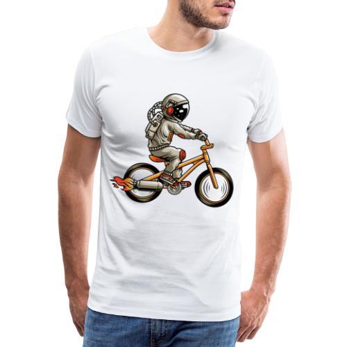 Astronaut Raketenantrieb Fahrrad Biker - Männer Premium T-Shirt