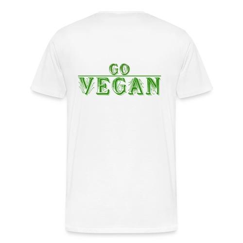 Go Vegan Langarmshirt Herren - Männer Premium T-Shirt