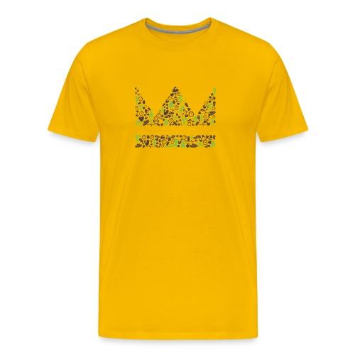 krone icons braungruen png - Männer Premium T-Shirt