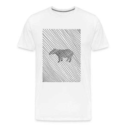 square lines - Männer Premium T-Shirt
