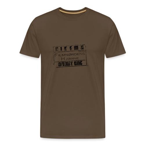 Stort slidt logo - Herre premium T-shirt
