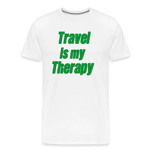 travel_is_my_therapy_ - Maglietta Premium da uomo