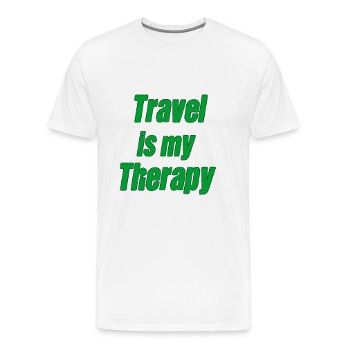 travel_is_my_therapy_ - Maglietta Premium da uomo