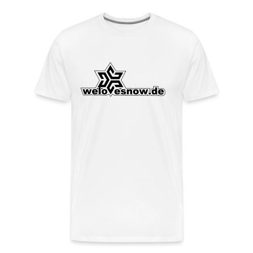 welovesnow logo black ohn - Männer Premium T-Shirt
