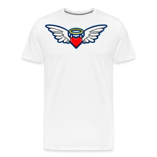 I Aime LOKY D.bleu recto verso près du corps - T-shirt Premium Homme