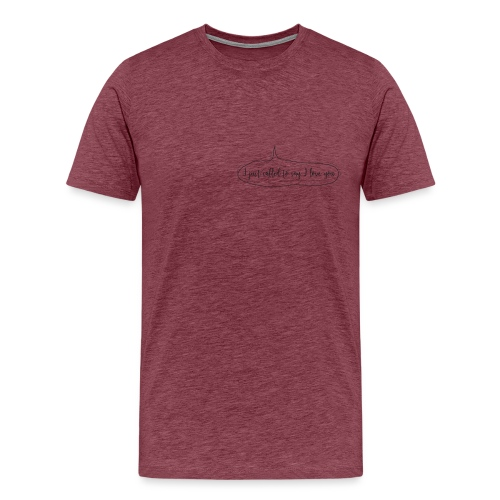 love at first sight png - T-shirt Premium Homme