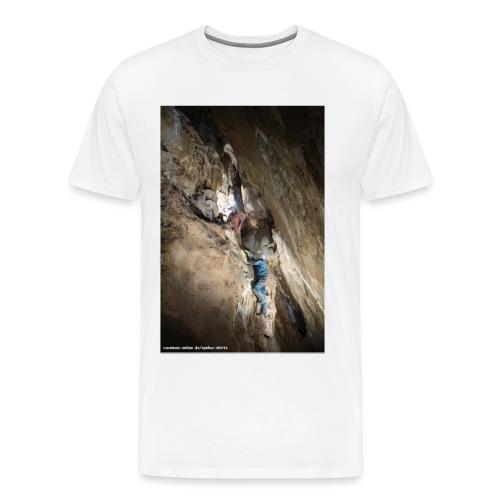 Hoehlenforscher_an_Leiter - Männer Premium T-Shirt