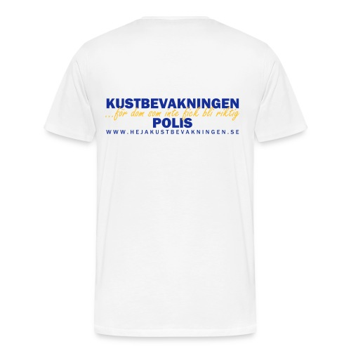 KBV För dom som inte fick bli riktig polis - Premium-T-shirt herr