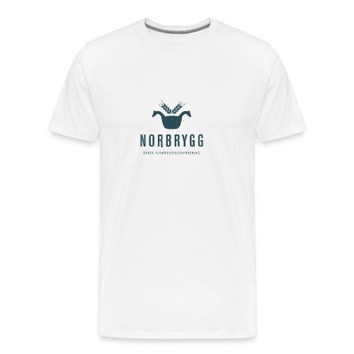 Mørk blå NB png - Premium T-skjorte for menn