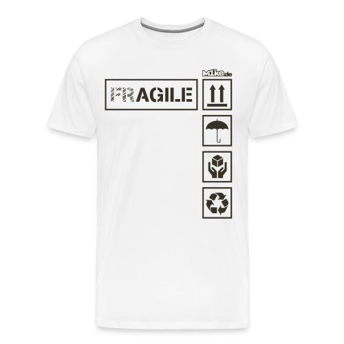 Fragile png - Männer Premium T-Shirt