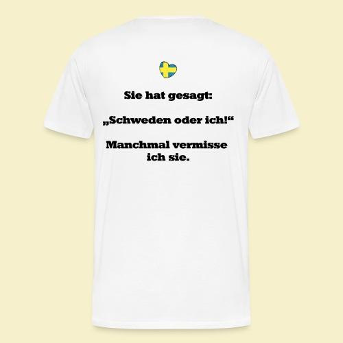 T-Shirt Schweden Herz schwarz für ihn - Männer Premium T-Shirt