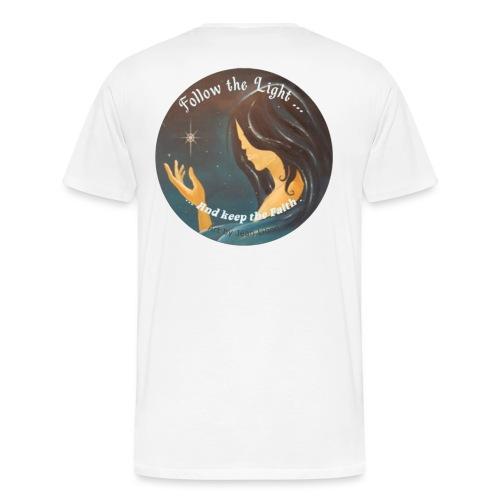 Follow the light, d'après le peinture Améthyste - T-shirt Premium Homme