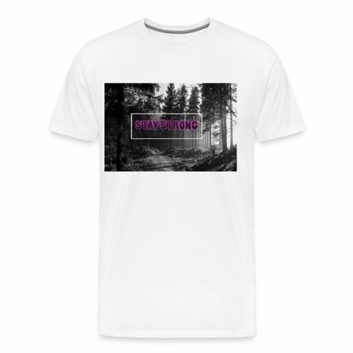 StayStrongFEVUrosa png - Männer Premium T-Shirt