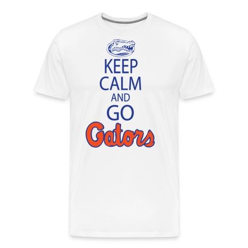 keepcalmnobackplainedithighresblue copy - Men's Premium T-Shirt
