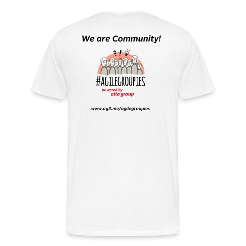 agilegroupies we are community white - Männer Premium T-Shirt