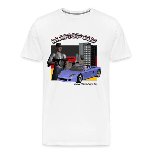 Shirt-Mafiopoly weiß 2 - Männer Premium T-Shirt