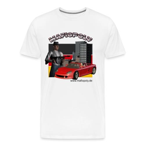 Shirt-Mafiopoly weiß - Männer Premium T-Shirt