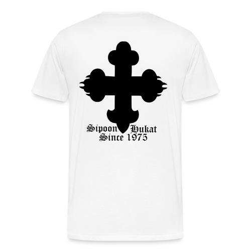Sipoon_Hukat_valkoinen - Miesten premium t-paita