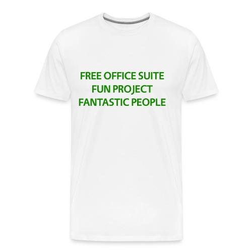 T Shirts Green Text Front png - Men's Premium T-Shirt
