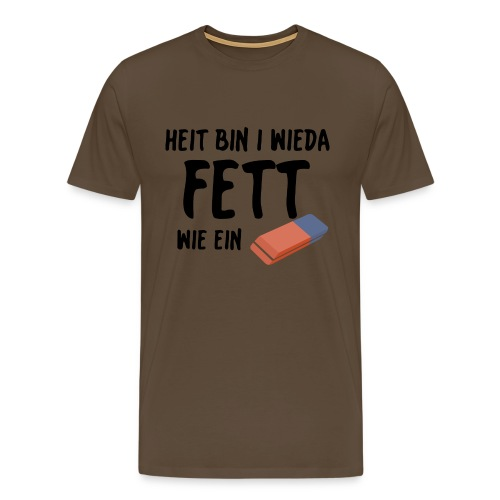 fett wie ein radierer png - Männer Premium T-Shirt
