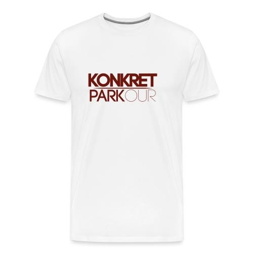 RED konkret png - Premium-T-shirt herr