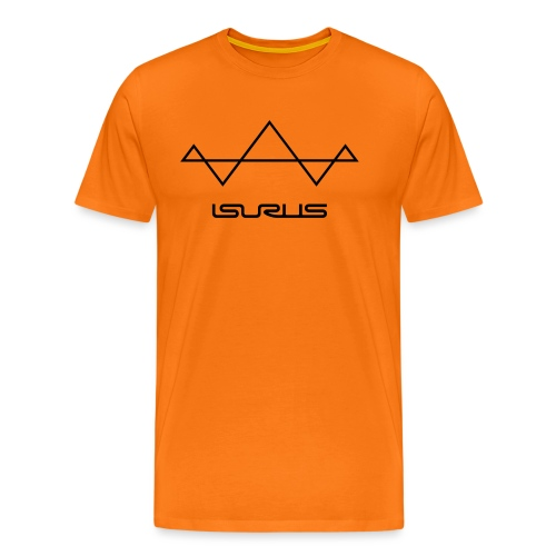 Isurus Symbol & Text Logo - Men's Premium T-Shirt
