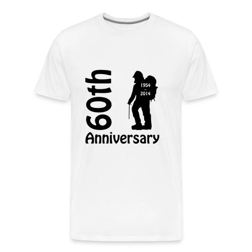 60th front mountianeer - Men's Premium T-Shirt