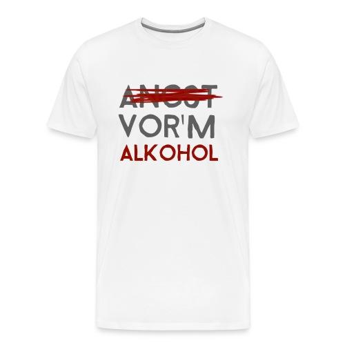 Angst vorm Alkohol png - Männer Premium T-Shirt