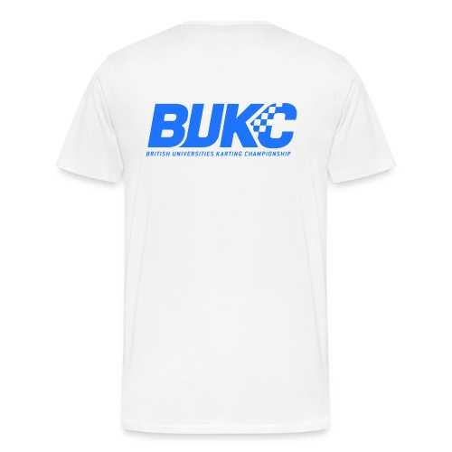 bukc_logo_blue_on_white_b - Men's Premium T-Shirt