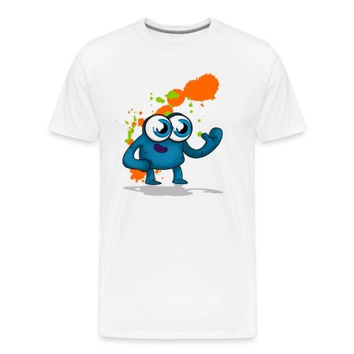 blue logo 2 png - Men's Premium T-Shirt