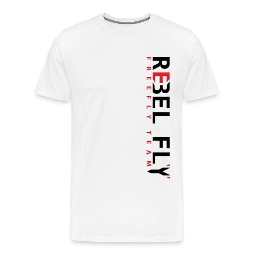 RebelFlyFreeflyTeamT ShirtPrintInverse png - Premium T-skjorte for menn